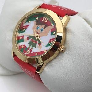 Christmas Watch Red Holidays Women Analog Wrist Wa